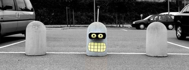 grappig street art bender