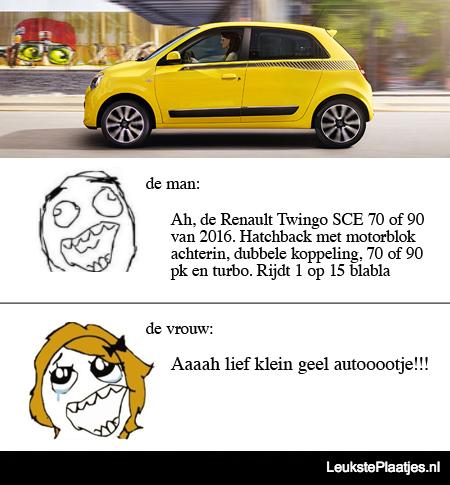 geel autootje