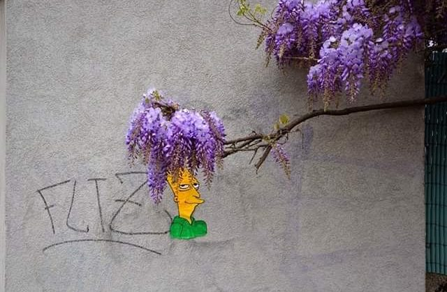 grappig street art sideshow bob