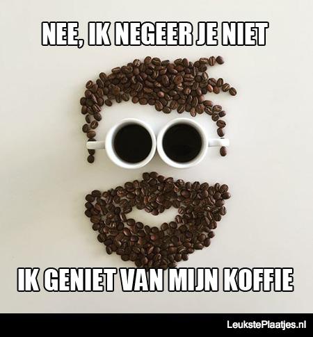 genieten van je koffie