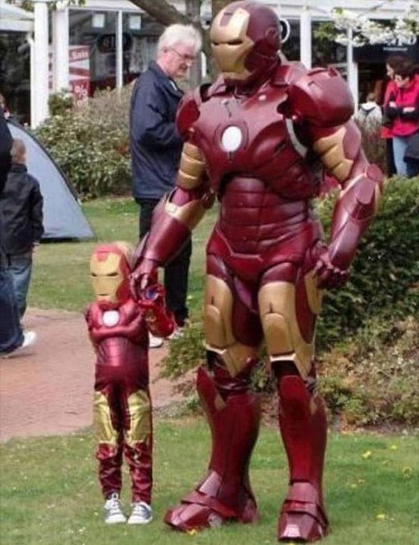 vader en zoon ironman